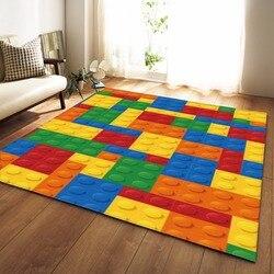 Alfombra colorida moderna para habitación de niños alfombra de juego alfombra de franela de espuma de memoria alfombra grande para sala de estar hogar decorativo