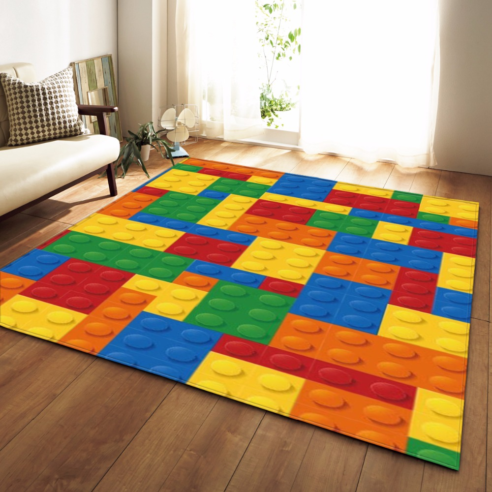 Modern Colorful Rug Bedroom Kids Room Play Mat Carpet Flannel Memory Foam Area Rugs Large Carpet for Living Room Home Decorative