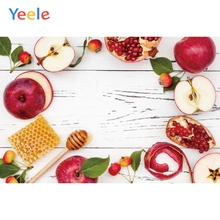 Yeele Rosh Hashanah Jewish New Year Photography Backdrops Honey White Wood Board Photographic Background Vinyl For Photo Studio