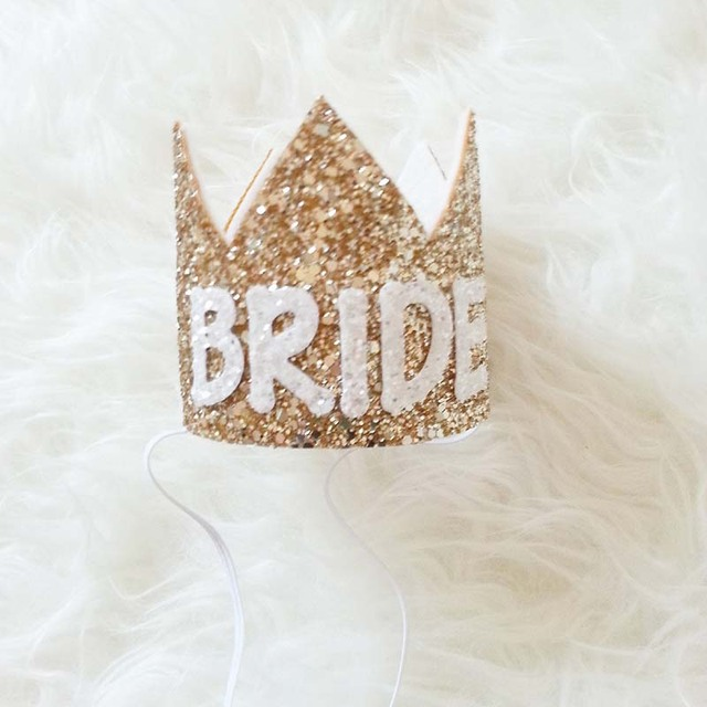 bachelorette party bride birthday gift wedding hat tiara headband crown bridal shower hairband photo props decoration