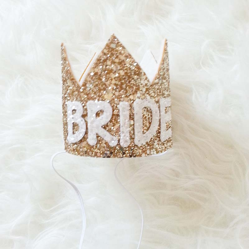 Bachelorette Sparkle tiara Hen Party Crown Bride to Be Bridal Shower Supply JL
