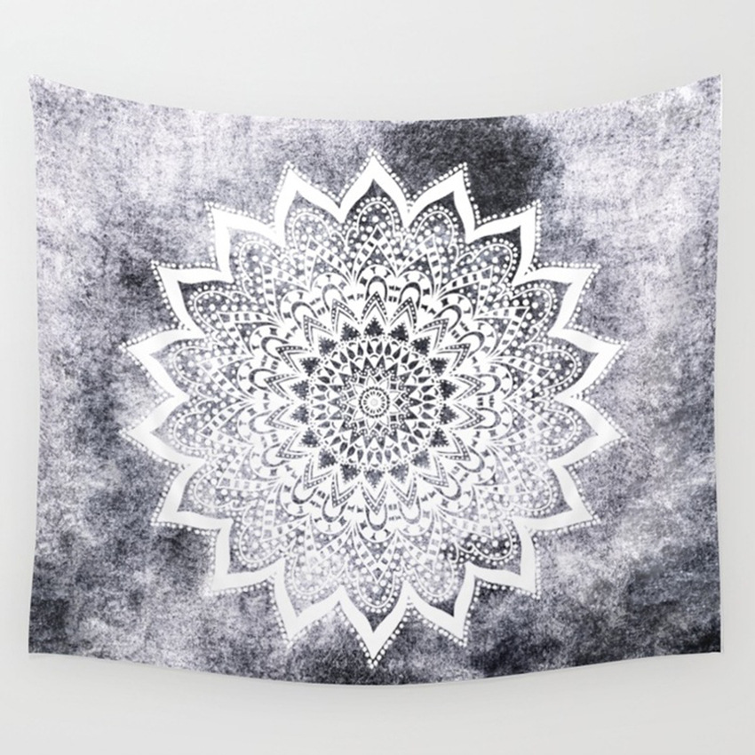 Bohemian Mandala Tapestry Wall Hanging Tapestries Sandy Beach Indian Picnic Throw Rug Blanket Camping Tent Travel Mattress Decor in Tapestry from Home Garden