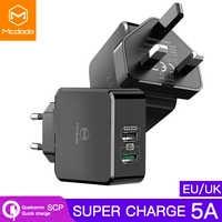 Adaptateur EU/UK chargeur USB 5A charge Super rapide pour HUAWEI Mate 20 pro P20 Honor 10 chargeur téléphone portable pour iPhone Samsung S9