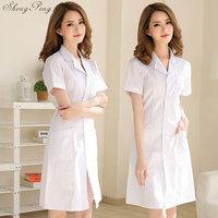 Lab coat medical clothing medical cap spa uniform uniforms medical lab coat women hospital uniform doctor coat white lab Q439