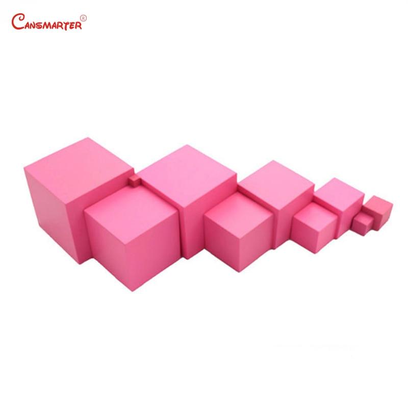 Jouets mathématiques mat rose tours blocs Cubes pour enfants 3 6 ans préscolaire enseignement aides enfants jeux jouet sensoriel formation SE003 3 - 3