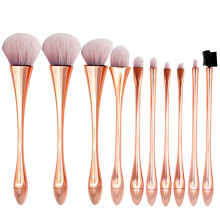 купить 10pcs Goblet Shaped Makeup Brushes Set Base Makeup Cosmetic Foundation Powder Eyeshadow Eyeliner Lip Blush Brush Brushes Tools по цене 734.03 рублей