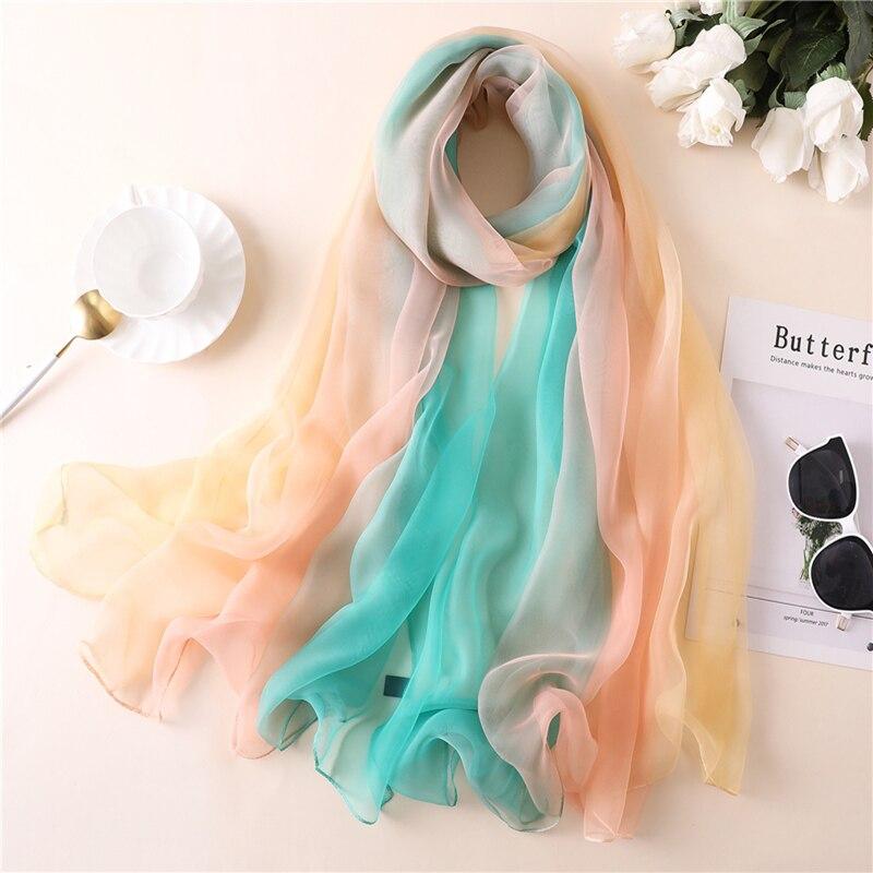 2020 Designer Brand Women Scarf Fashion Print Silk Scarves Summer Shawls And Wraps Lady Pashmina Bandana Female Foulard Hijabs