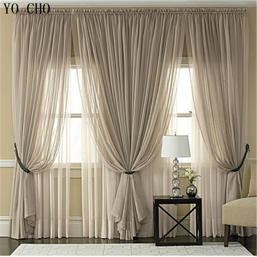 Multicolor sheer tulle curtains cheap custom window Contemporary drapes window treatments