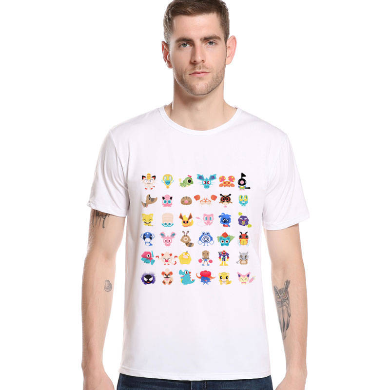 ae70755152 Newest Pokemon Go Men s T-Shirts 3D Pikachu Mega Gengar Brand Clothing  Fashion Summer Classic