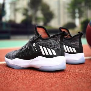 Image 5 - איש גבוהה למעלה ירדן כדורסל נעלי לנשימה Nonslip סניקרס גברים חדש סגנון עמיד הלם ירדן נעלי חיצוני טניס מאמני