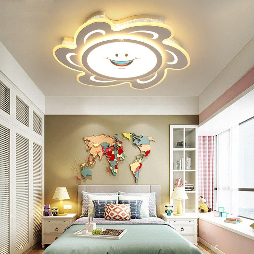 Modern fashion Led Ceiling light for children Dimmable bedroom Ceiling lamp for kits Birthday gift reflector lamp 220V 110V