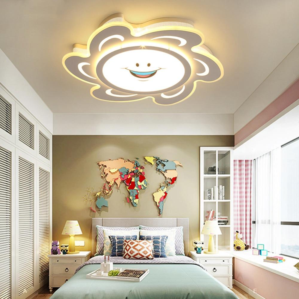 Modern fashion Led Ceiling light for children Dimmable ...