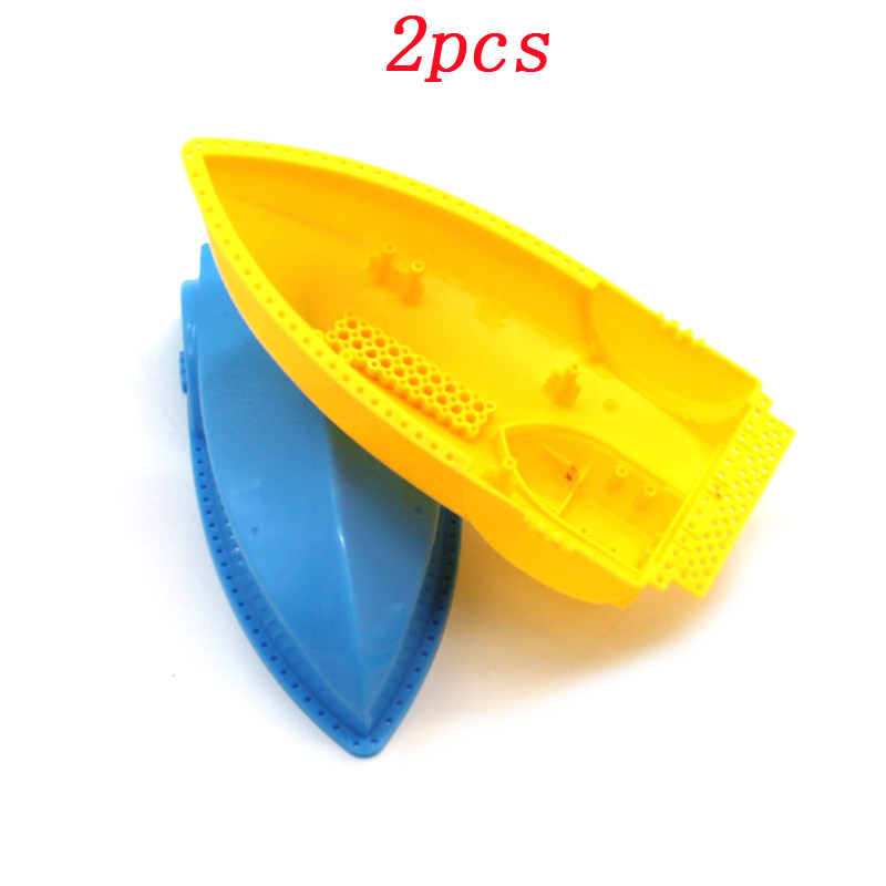 2pcs Remote Control <font><b>Boat</b></font> Bottom Shell Upper Cover Assault <font><b>Model</b></font> Ship <font><b>Hull</b></font> Outer Case DIY Handmade Toys for Boys/Child image