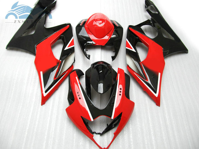 Custom Fairing kits for Suzuki GSXR 1000 2005 2006 GSXR1000 K5 K6 road racing fairings kit 05 06 GSX R1000 red black aftermarket