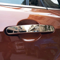 STAINLESS STEEL EXTERIOR DOOR HANDLE TRIM COVER DECAL FOR FORD KUGA 2013 2017 2018 ACCESSORIES CAR STYLING