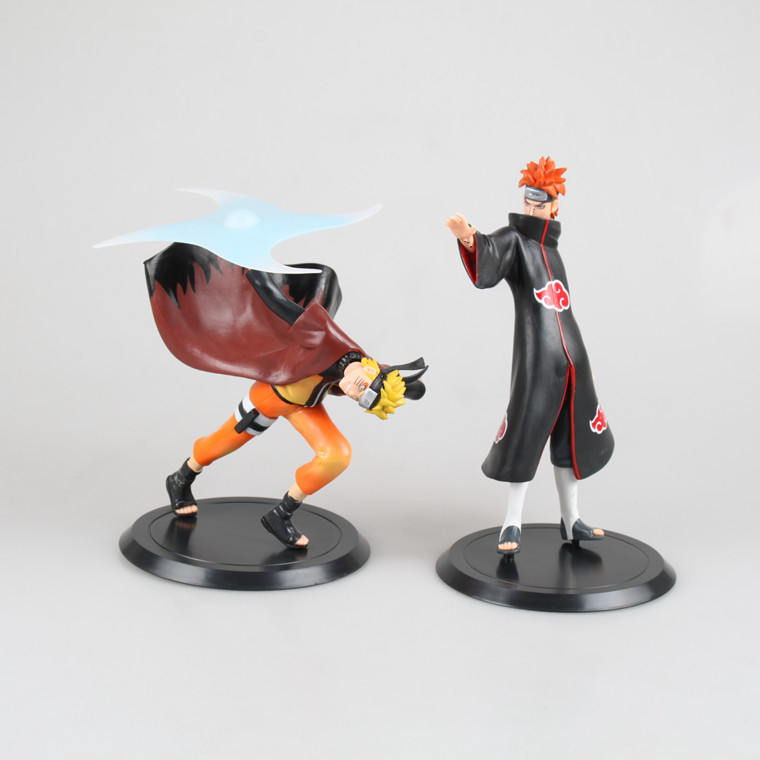 2 Pcs/Set Anime Naruto Uzumaki Naruto Yahiko PVC Action Figure Collection Model Kids Toys Figures Christmas Gifts Figurine 19 CM 2pcs set naruto anime uzumaki naruto hyuga hinata pvc action figure model collection 16cm approx toy