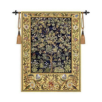 William Morris Tree of Life Medieval Wall Tapestry Wall Hanging Belgium Moroccan Decor Decorative Wall Cloth Tapestries tapiz
