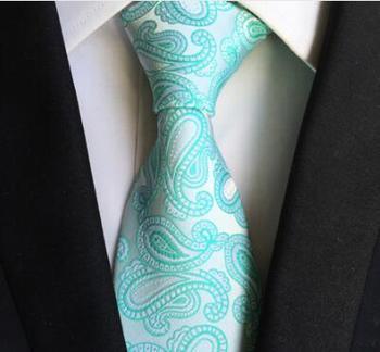 Unikalny Projekt Szyi Krawat 8 cm Formalne Klasyczne Mięta Zielona Floral Krawaty Wysokiej Jakości Mody Panowie Tkane Gravata z dla mężczyźni