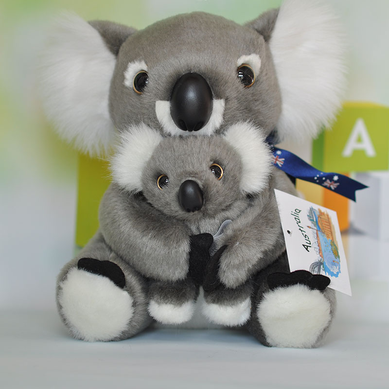 big plush koala toy high quality koala mother baby doll gift about 33cm