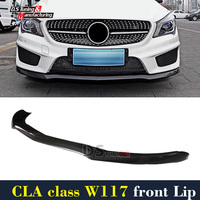 Mercedes W117 Carbon Fiber New Style Front Bumper Lip For Benz CLA45 New Package Pre facelift