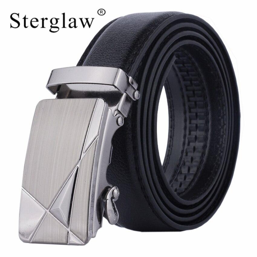 110x3.5cm Fashion PU Leather Mens Belts Automatic Buckle Belts For Men Business Popular Male Brand Black Belts Male Strap U122