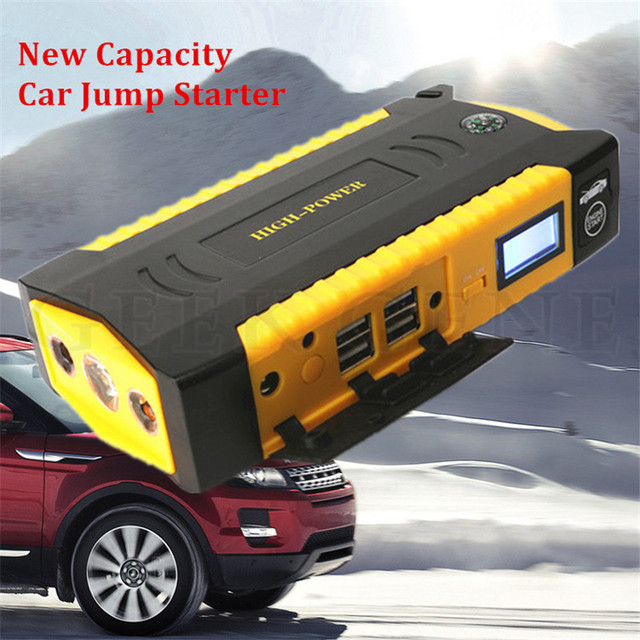 Portable 600A Peak 12V Petrol Diesel Car Jump Starter 16000mAh Car Charger Mini 4USB Power Bank Compass SOS Lights Free Ship
