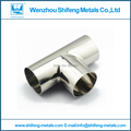 3.0''sanitary high anti-rust SS304 reducing tee with weld end pipe