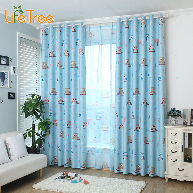 Exceptionnel Lovely Children Curtains For Boys Room Girl Bedroom Window Tulle Owl  Printed Sheer Custom Made