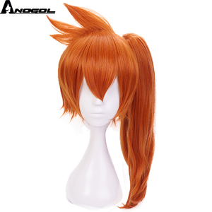Image 2 - Anogol My Hero Academy Itsuka Kendo Long Straight Ponytail Orange Hair Wigs Synthetic Cosplay Wig For Halloween Role Play Party