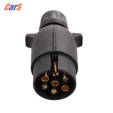 7 Pin Car Trailer Plug Socket 7-Pole Wiring Connector 12V Towbar Towing Caravan Truck Plug Car Electronic RV accessories