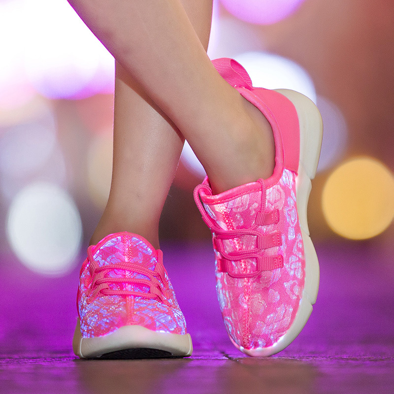 Children Glowing sneakers 7 colors kids USB Charged Flash of light up shoes boy girl Melbourne Shuffle Luminous sneakers pvris melbourne