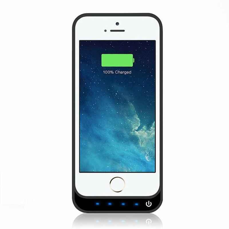 NENG 4200 mAh מכירה לוהטת חיצוני נטענת סוללה מטען אלחוטי בנק Power Case כיסוי עבור iPhone 5 5S 5c SE עם stand