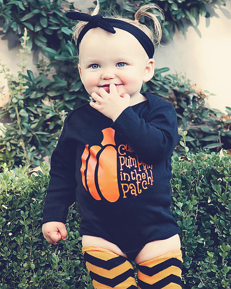 samgami baby halloween kids cartoon pumpkin printed costume girlsboys clothing cotton rompers childrens christmas party dress in rompers from mother