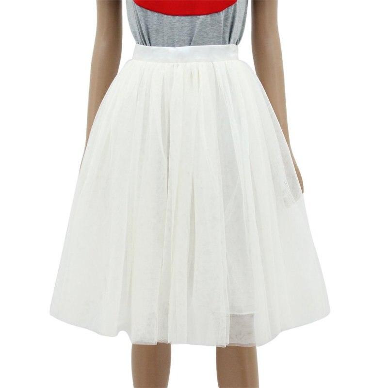 New Puff Women Chiffon Tulle Skirt High Waist Knee Length Grunge ...