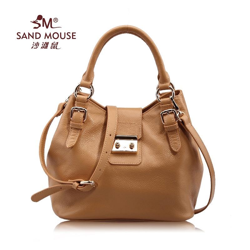 SAND MOUSE New Europe Genuine Leather Handbag Ladies Messenger Bags Shoulder Bag Women Totes Famous Brand Designer High Quality