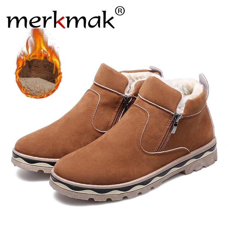 Merkmak Hot selling fashion Casual Shoes For Men comfortable shoes autumn/winter warm black brown casual Male Shoes Plus Size men s fashion casual cotton pants brown size 33
