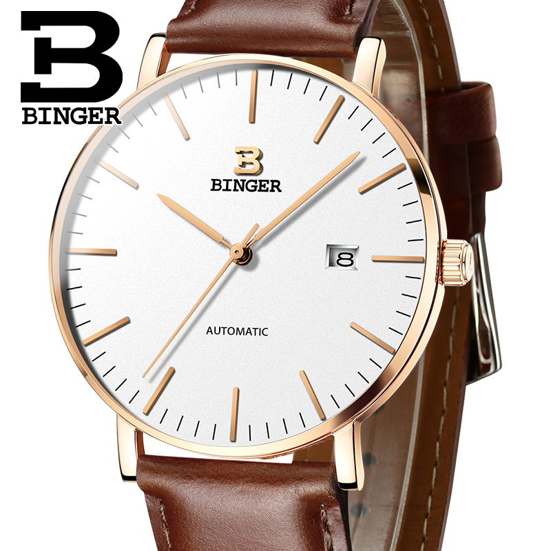 Switzerland BINGER Mens Watches Luxury Brand automatic mechanical Men Watch Sapphire Male Japan Movement reloj hombre B-5081M-11 switzerland binger watch men 2017 luxury brand automatic mechanical men s watches sapphire wristwatch male reloj hombre b1176g 6