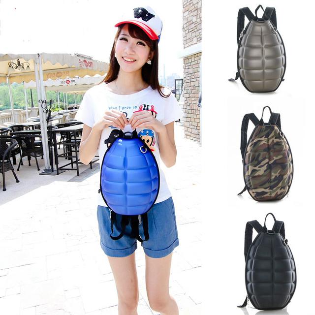 2017 nuevo creative bomba granada personalidad de tendencia mochila de los niños bolsa de la escuela bolsa de moda hombre mujer bomba envío gratis