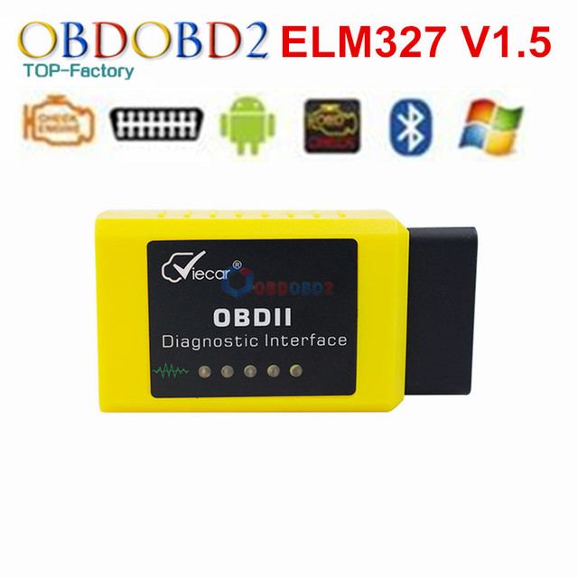 Hardware V1.5 Super MINI ELM327 Software V2.1 Viecar Bluetooth 12Kinds Multi-Langugae OBDII CAN-BUS Works ON Android Torque/PC
