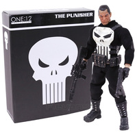 MEZCO The Punisher 1 12 Scale PVC Action Figure Collectible Model Toy Real Clothes 16cm