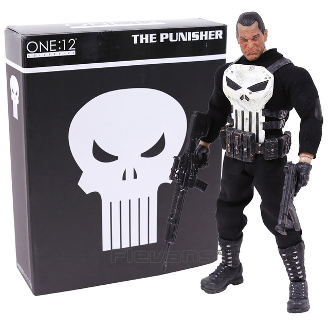 mezco the punisher 1 12 scale pvc action figure collectible model