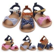 Тканые босоножки на завязках с бантом для маленьких девочек; парусиновая обувь; простая обувь; кроссовки; нескользящая обувь на мягкой подошве