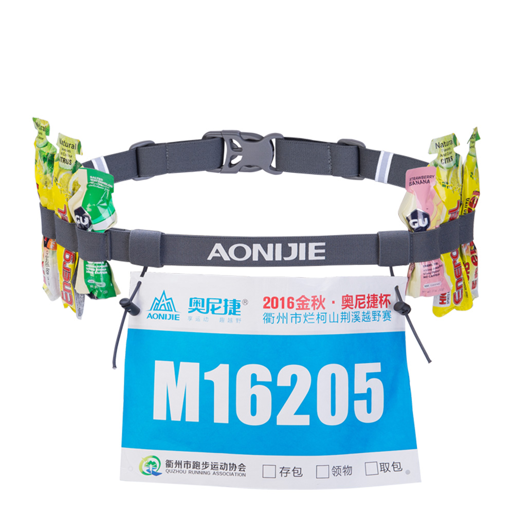 AONIJIE AONIJIE NEW Men Women Unisex Triathlon Marathon Race Belt With Gel Holder Running Number Belt Running Outdoor Sports in Running Bags from Sports Entertainment
