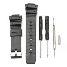 25 мм черный матовый Силиконовый ремешок для часов CASIO G Shock ремешок и инструмент для ремонта для CASIO серии G Shock