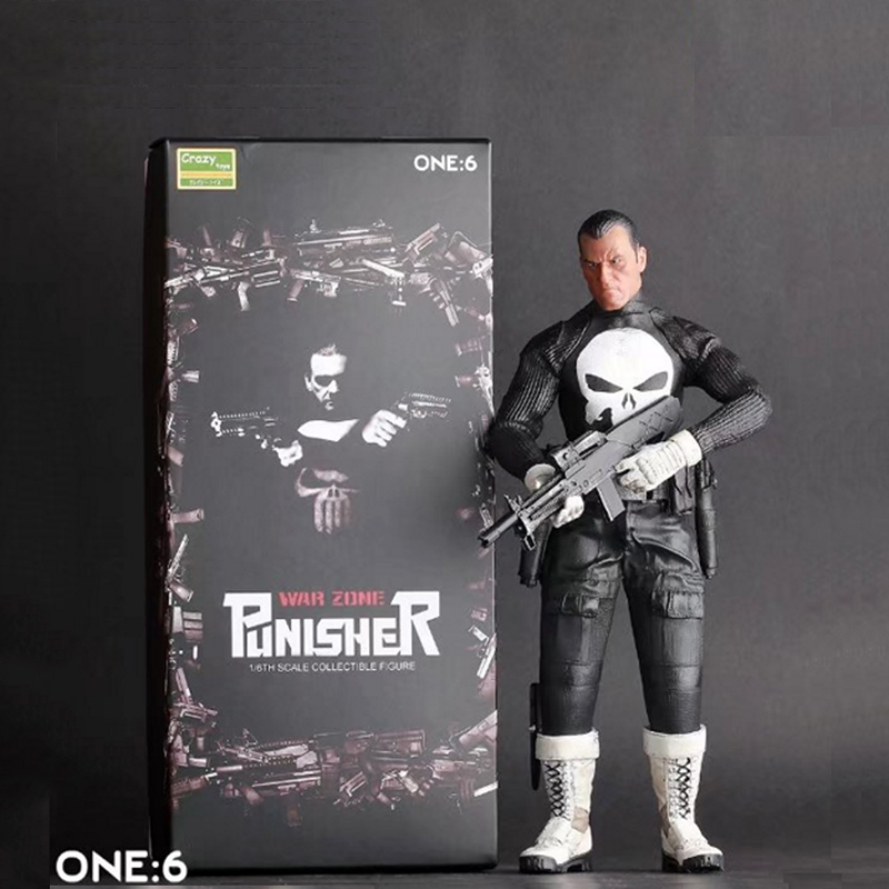 Crazy Toys War Zone Punisher One:6 Collectible Figure 1/6 Scale In Box Free Shipping cookery postcards 100 cookbook covers in one box