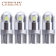 4pcs Signaal Lamp 3030 T10 Led Auto Lamp W5W 194 168 Led T10 Led Lampen Voor Auto 'S Wit 5W5 klaring Backup Reverse Auto Licht 12V(China)