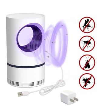USB электрическая Москитная лампа для борьбы с вредителями наклейка от комаров Летающая ловушка светодиодный светильник Жук Насекомое Отпу...