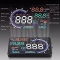 Heads-up display HUD OBD velocímetro digital inteligente instrumento automóvel velocidade temperatura e exibição de consumo de combustível