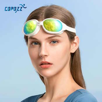 COPOZZ Swimming Goggles Myopia 0 -1.5 to -7 Men Women Anti fog UV Protecion Waterproof Swimming Glasses Diopter Swim Eyewear