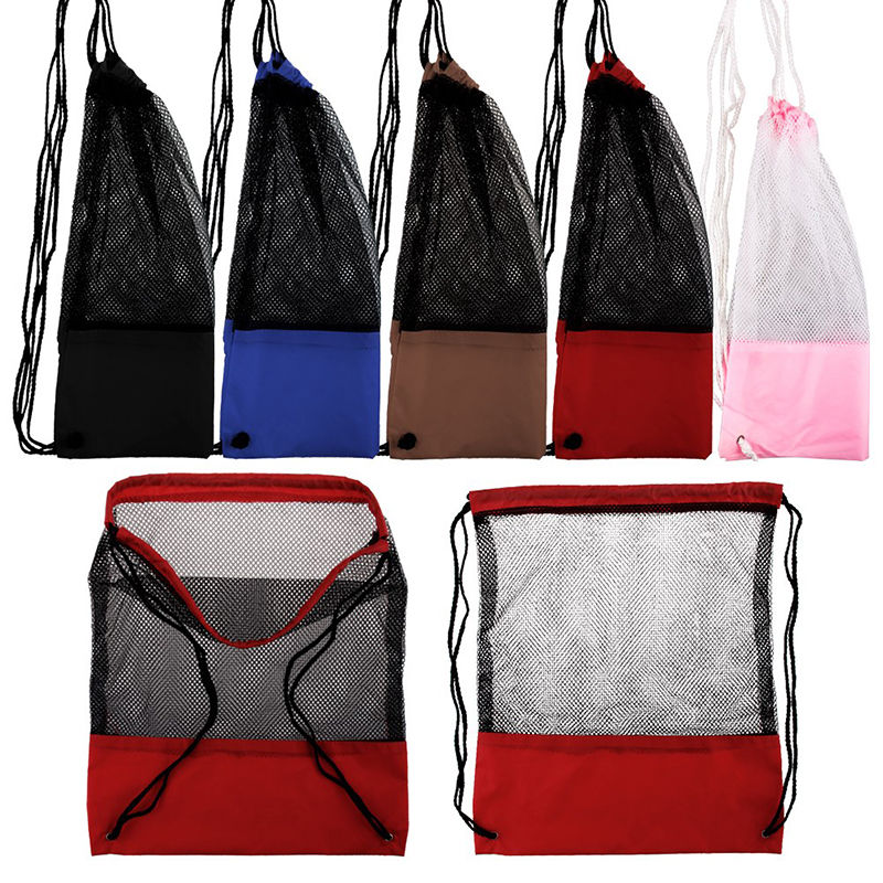 Outdoor Tavel Camping Hiking Sports Mesh Stuff Sack font b Drawstring b font font b Bag